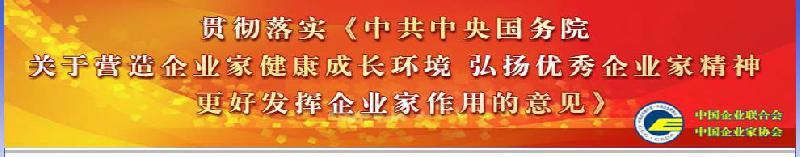 贯彻落实《中共中央国务院关于营造企业家健康成长环境 弘扬优秀企业家精神 更好发挥企业家作用的意见》